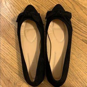 Black flats Size 10